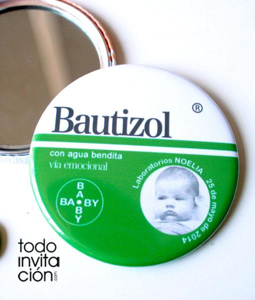 espejo personalizado bautizo
