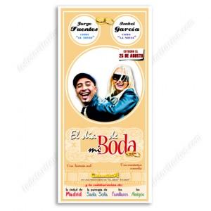 """invitación de boda """"Cartel de Cine"""""""