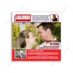 invitación de boda portada de revista
