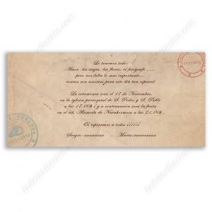 invitación de boda POST