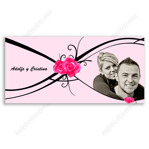 invitación de boda Rosas