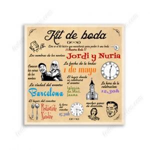 """invitación de boda """"Kit de Boda"""""""