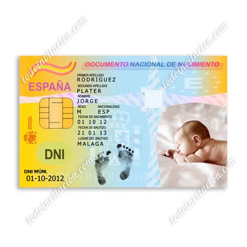 invitación bautizo DNI Baby