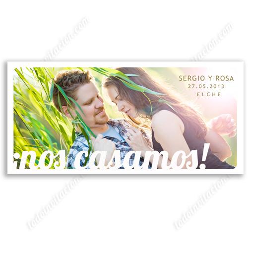 "invitación de boda ""Love Postal"""