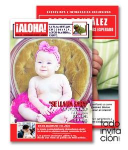 invitacion original bautizo portada revista