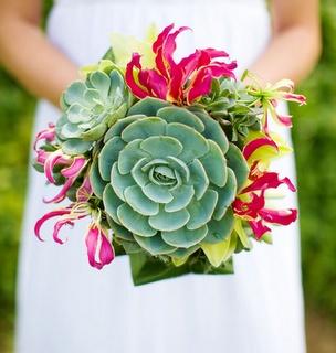 Ramos de novia originales con plantas suculentas for Adornos para bodas con plantas