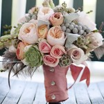 Suculentas ramo de novia 6