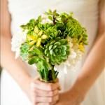Suculentas ramo de novia 7