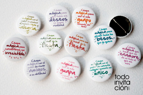 Chapas divertidas para tus invitados en tu boda ... - photo#48