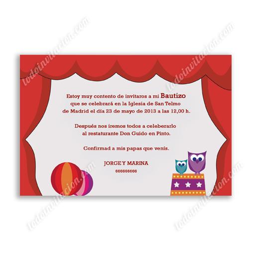 Invitación de Bautizo colorida y alegre - invitaciones y detalles ...