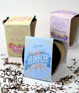 kit de semillas de flores boda bautizo comunion
