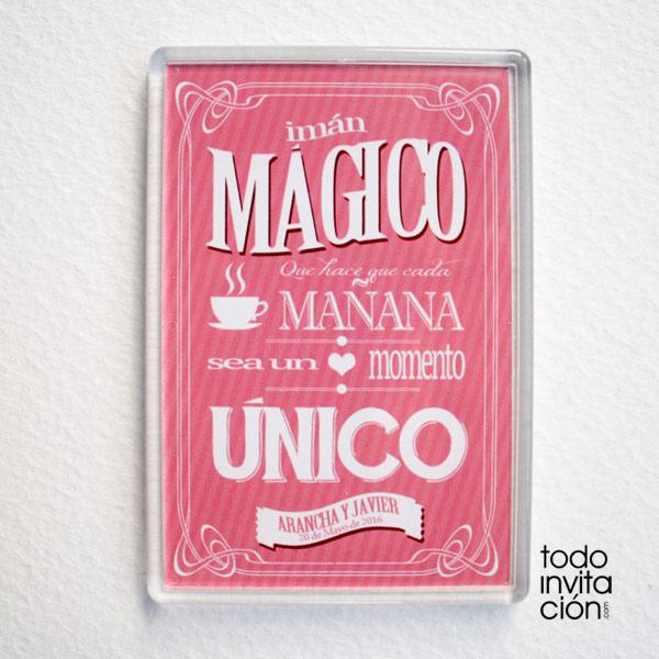 imanes magicos para invitados de boda