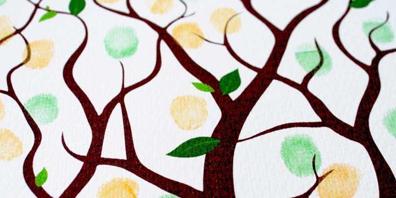 cuadros y arboloes de huellas para boda comunion y bautizo
