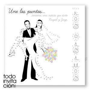 """Invitación de boda """"Une los puntos"""""""