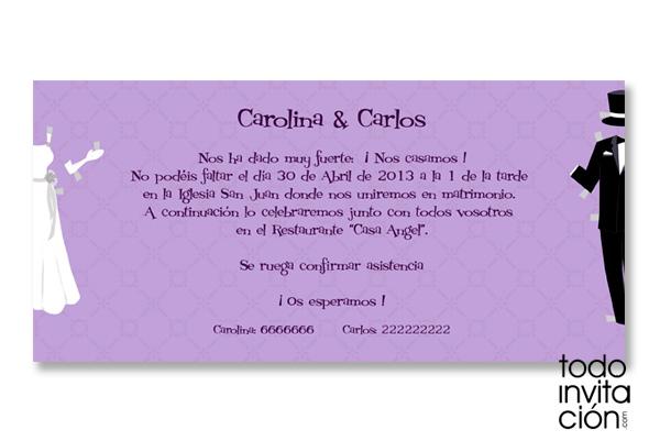 Invitacion De Boda Recortable Invitaciones Y Detalles Originales - Ver-invitaciones-de-boda