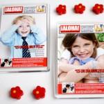 Recordatorio invitacion de comunion original portada de revista