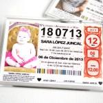 recordatorio invitacion de bautizo original iman de nevera loteria