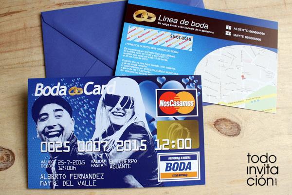 Invitación De Boda Tarjeta De Crédito Invitaciones Y
