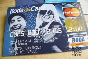 invitacion de boda tarjeta de credito