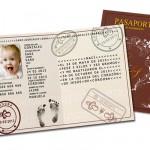 invitacion bautizo pasaporte