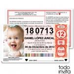 invitacion original bautizo loteria