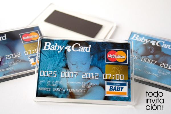 Recordatorio de bautizo original – Imán tarjeta de crédito
