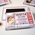 detalle original para bodas iman lotería