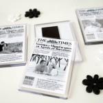 detalle original para bodas iman portada periodico