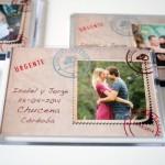 detalle original para bodas iman carta postal