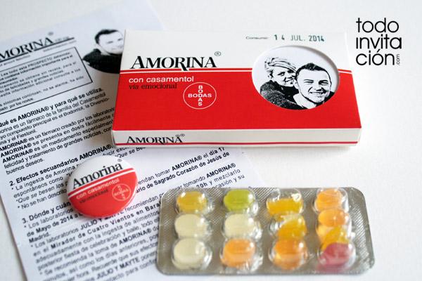invitación de boda original caja de medicamento