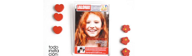 Recordatorio de comunión imán portada de revista