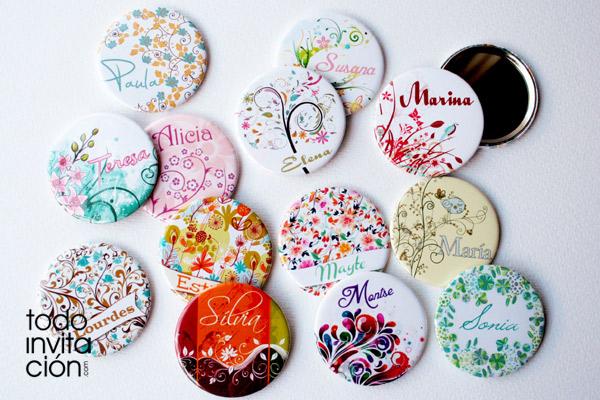 Espejos personalizados con nombres para invitadas for Espejos originales para salon