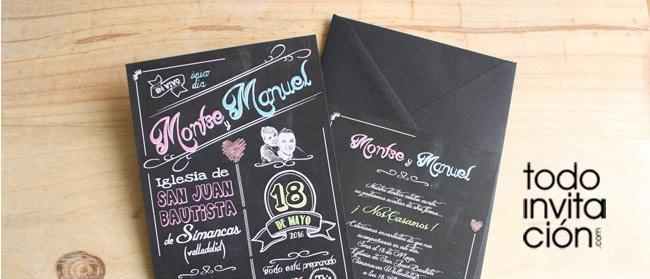 """Invitación original de boda """"PIZARRA"""""""