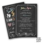 invitacion de boda original pizarra