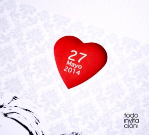 invitacion original corazon rojo