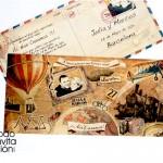 invitación de boda original viajes romanticos