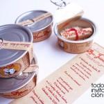 invitacion de boda lata delicias de boda