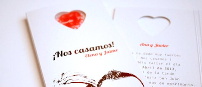 11 invitaciones de boda directas al corazón : Las invitaciones más originales con corazones