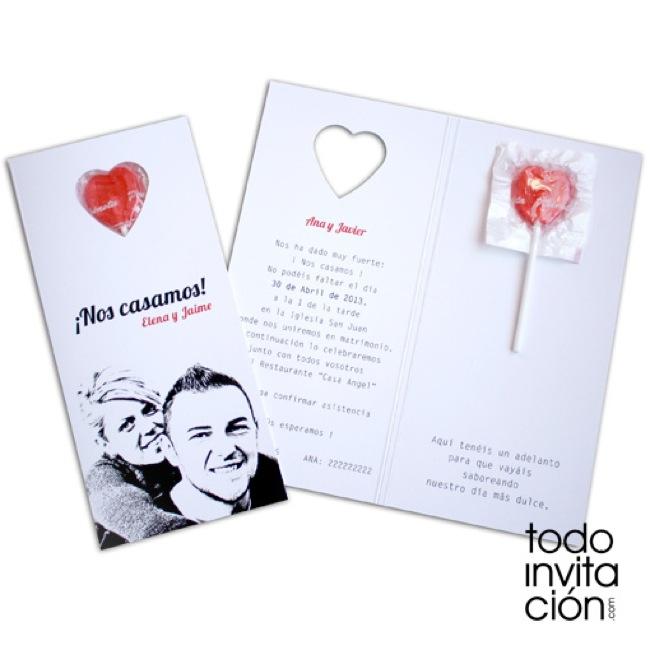 11 invitaciones de boda directas al coraz n las - Invitacion de boda original ...