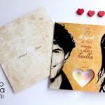 invitacion original huellas digitlales corazon