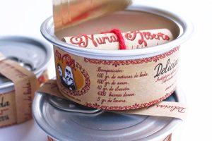 invitacion de boda original lata delicias