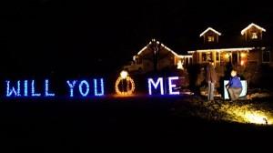 Cásate conmigo por medio de luces