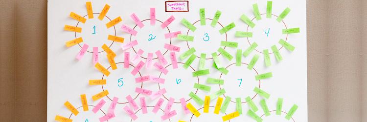 Cómo organizar las mesas de invitados de tu boda