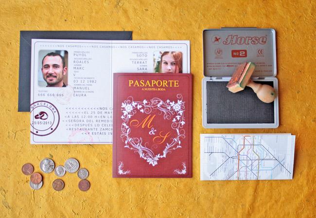 Invitación de boda Pasaporte