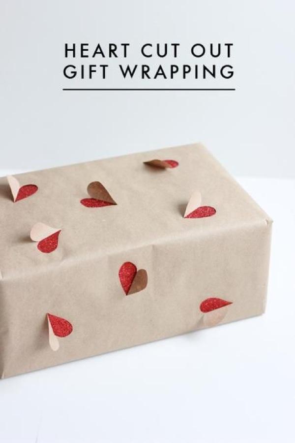 Envoltorios de regalos en papel