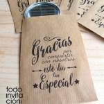 bolsas de kraft para detalles de boda