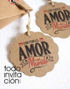 etiquetas kraft bodas comunion bautizo detalles invitados