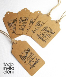 etiquetas de kraft para detalles de boda bautizo comunion