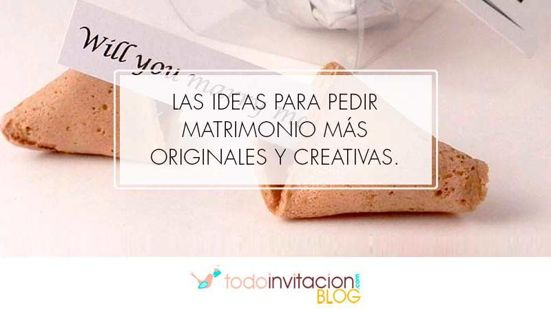 ideas pedir matrimonio originales