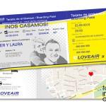 invitacion de boda tarjeta de embarque avion